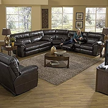 Preferred Amazon: Catnapper Voyager Reclining Sectional Set  : Kitchen With Regard To Jackson 6 Piece Power Reclining Sectionals With  Sleeper (View 14 of 15)