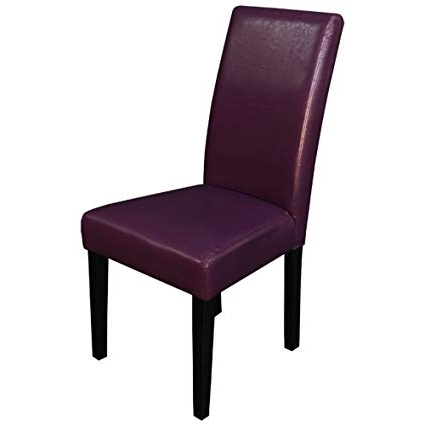 Preferred Amazon: Monsoon Pacific Villa Faux Leather Dining Chairs Throughout Purple Faux Leather Dining Chairs (View 8 of 20)