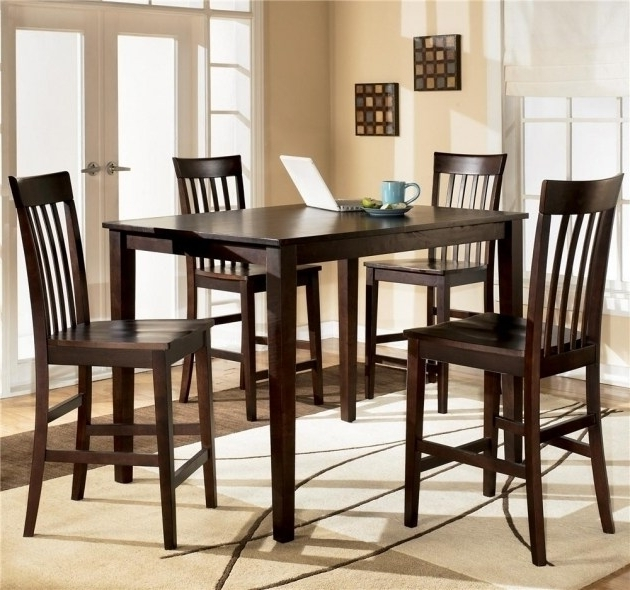 Preferred Ashley Kitchen Table Sets – Castrophotos For Hyland 5 Piece Counter Sets With Bench (View 16 of 20)