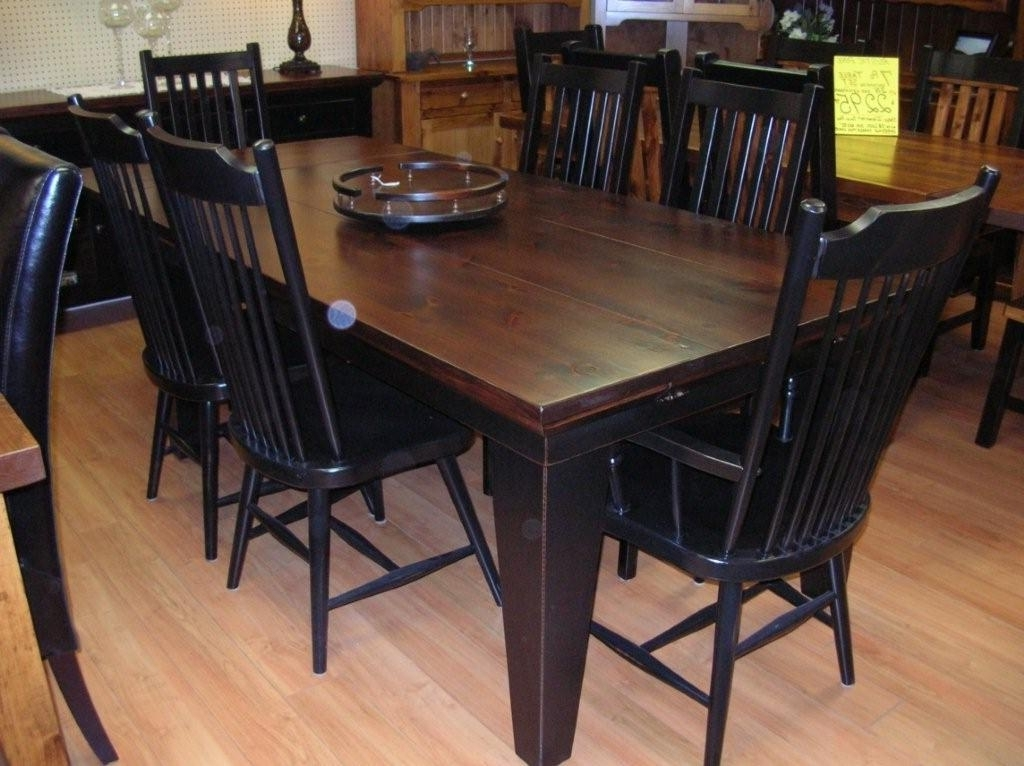 Preferred Black Wood Dining Tables Sets Pertaining To Rustic Dining Table, Rustic Dining Room Tables, Rustic Wood Dining (View 15 of 20)