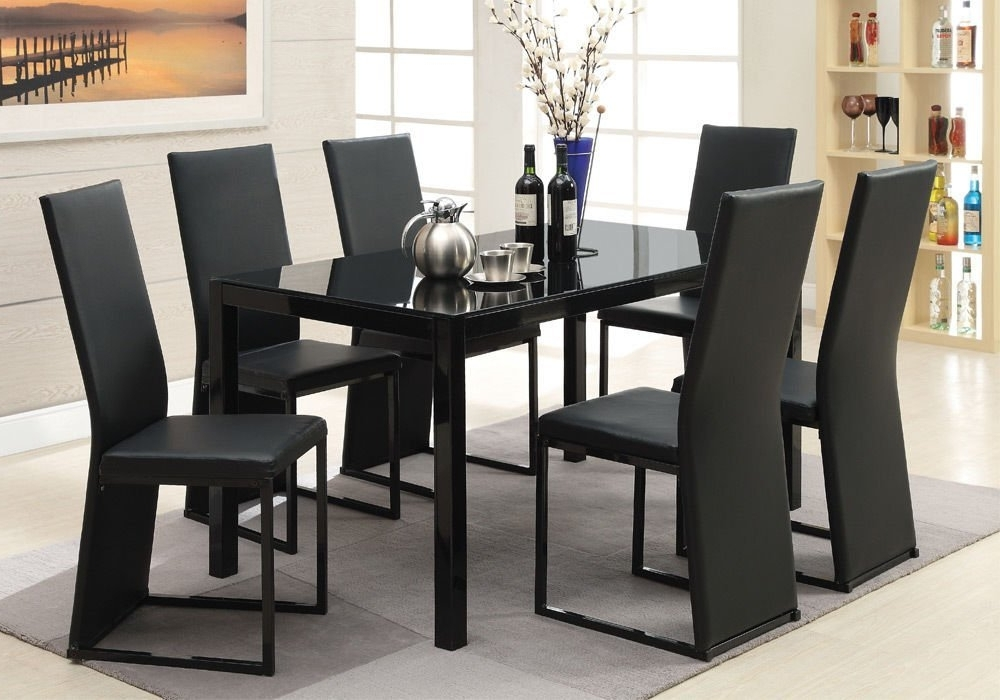 Preferred Cheap Iron Glass Dining Table, Find Iron Glass Dining Table Deals On Within Delfina 7 Piece Dining Sets (View 16 of 20)
