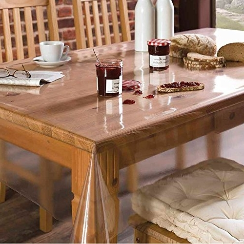 Preferred Clear Plastic Dining Tables Intended For Buy Freelance Pvc Polyester 6 To 8 Seater Dining Table Cover (View 15 of 20)