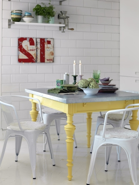 Preferred Colorful Painted Dining Table Inspiration Intended For Painted Dining Tables (View 17 of 20)
