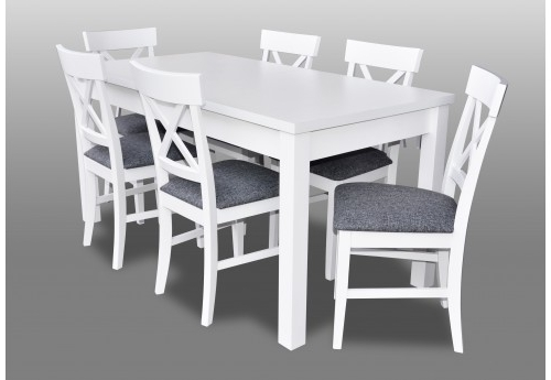 Preferred Combs 5 Piece 48 Inch Extension Dining Sets With Pearson White Chairs Within Imágenes De White Dining Room Table With Chairs (View 17 of 20)