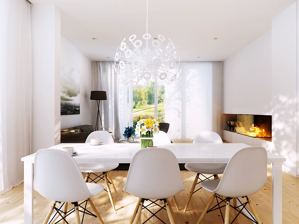 Preferred Contemporary Dining Room Chairs White Color — Contemporary Furniture With Contemporary Dining Room Chairs (View 15 of 20)