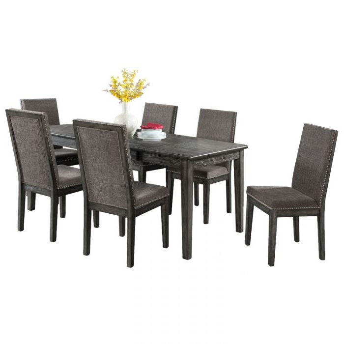Preferred Cora 5 Piece Dining Sets Within South Paw Dark Gray 7 Piece Dining Set (View 17 of 20)