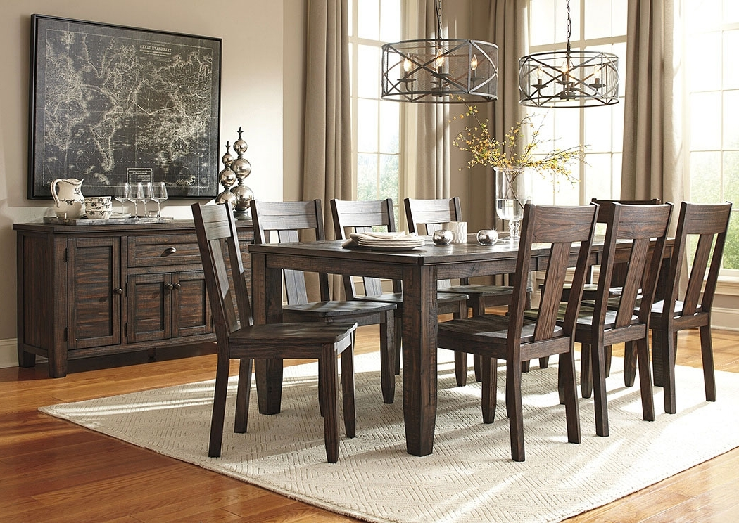 Preferred Craftsman 7 Piece Rectangle Extension Dining Sets With Uph Side Chairs Inside Alliance Furniture Usa Trudell Golden Brown Rectangular Dining Room (View 15 of 20)