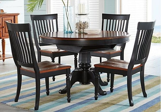Preferred Crawford 7 Piece Rectangle Dining Sets Within Shop For A Cindy Crawford Home Ocean Grove Black 5 Pc Dining Room W (View 5 of 20)
