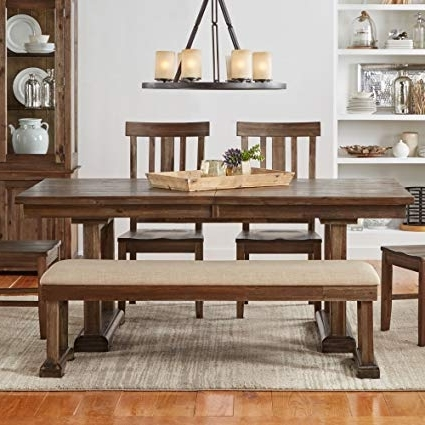 Preferred Dawson Dining Tables Inside Amazon – A America Dawson 96Inch Trestle Table – Wire Brushed (View 5 of 20)
