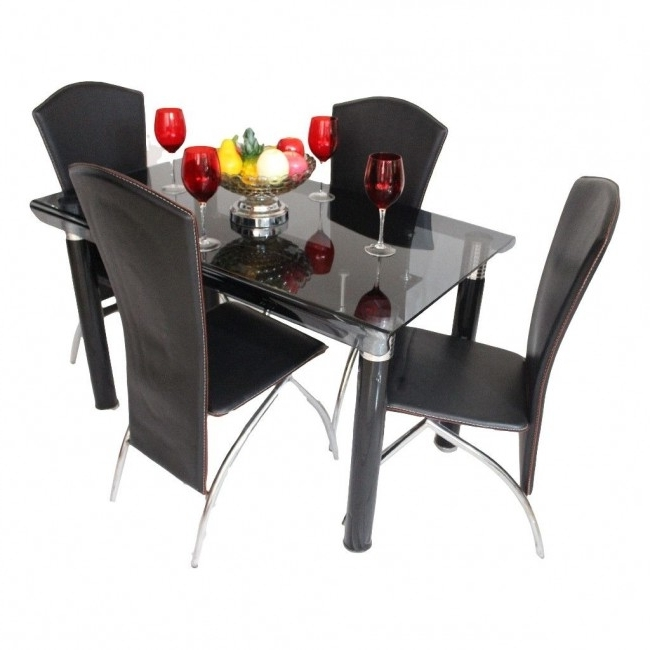 Preferred Dining Set Online, Dining Set Furniture Showroom In Ahmedabad Throughout Curved Glass Dining Tables (View 19 of 20)