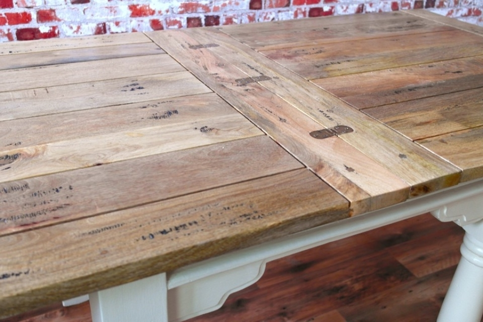 Preferred Drop Leaf Extendable Dining Tables Inside Extending Rustic Folding Dining Table Drop Leaf Space Saving Extendable (View 3 of 20)