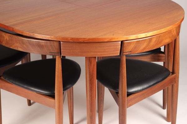 Preferred Extendable Dining Table And 6 Chairs Inside Extendable Dining Table With 6 Chairshans Olsen For Frem Røjle (View 15 of 20)