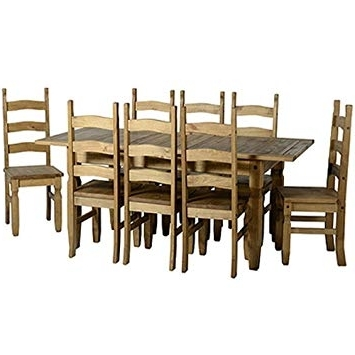Preferred Extending Dining Tables And 8 Chairs Pertaining To Seconique Corona Extending Dining Set With 8 Chairs: Amazon.co (View 16 of 20)