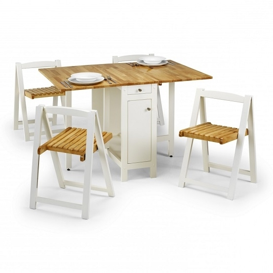 Featured Photo of Dining Tables With Fold Away Chairs