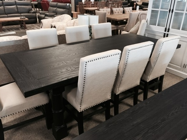 Preferred French Bordeaux Black Dining Table  (View 15 of 20)