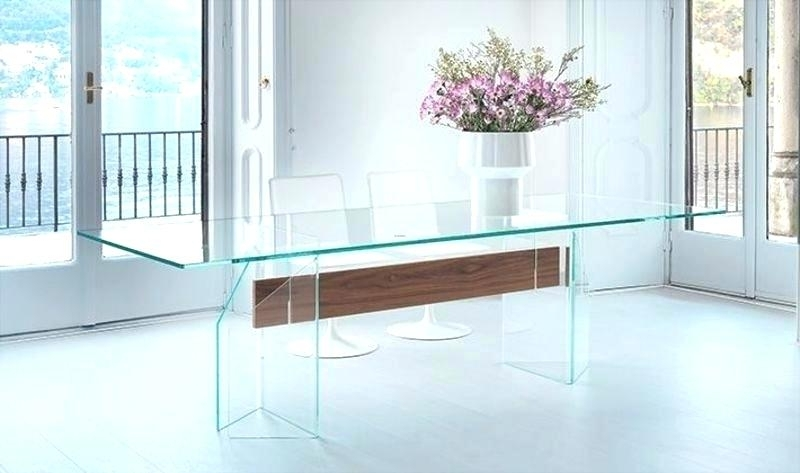Preferred Glass Contemporary Dining Table Glass Dining Table Base Modern Inside Contemporary Base Dining Tables (View 16 of 20)