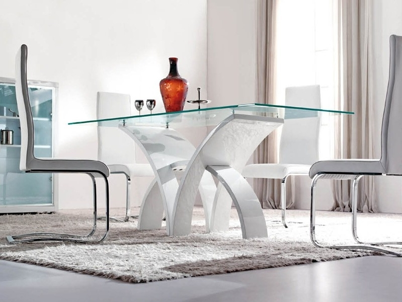 Preferred Glass Dining Tables Sets Throughout Modern Dining Room Furniture, Glass Dining Tables, Bar Tables And (View 16 of 20)