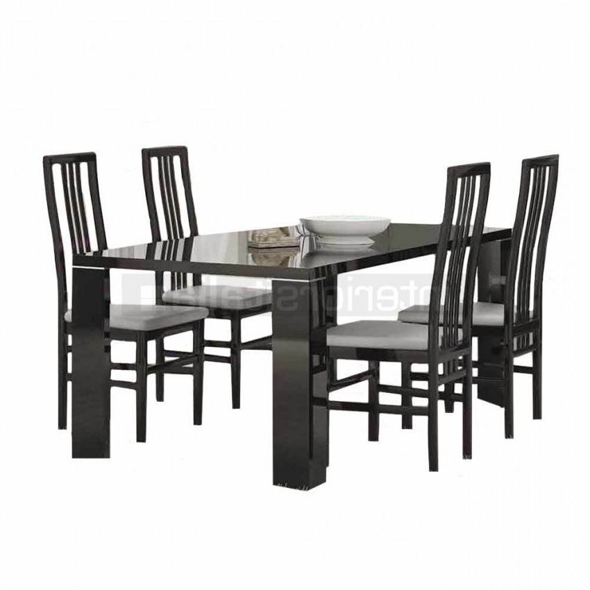 Preferred Gloss Dining Sets Pertaining To Black Gloss Dining Sets (View 9 of 20)