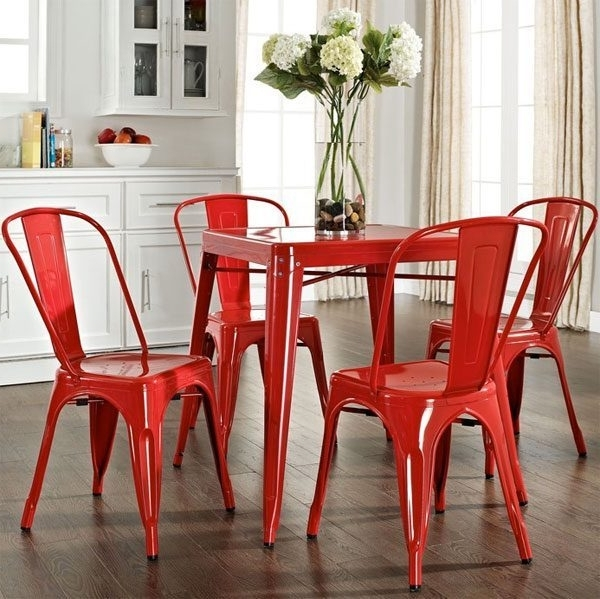 Preferred Gorgeous Red Dining Chairs — Eatwell101 With Regard To Red Dining Chairs (View 12 of 20)