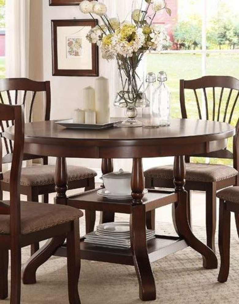 Preferred Homelegance Frankford Brown Neutral Dining Table – Frankford With Regard To Carly Rectangle Dining Tables (View 18 of 20)