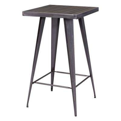 Preferred Ina Pewter 60 Inch Counter Tables With Frosted Glass Throughout Metal – Kitchen & Dining Tables – Kitchen & Dining Room Furniture (View 11 of 20)