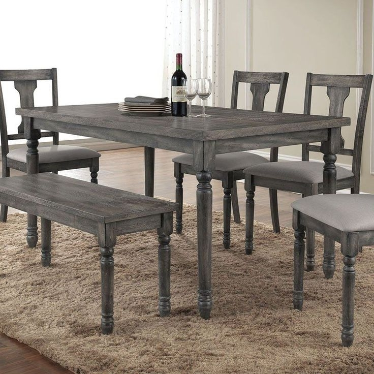 Preferred Jaxon Grey 6 Piece Rectangle Extension Dining Sets With Bench & Wood Chairs With Regard To Splendid Design Ideas Grey Wood Dining Set Jaxon 6 Piece Rectangle (View 15 of 20)
