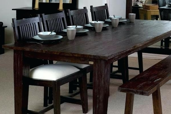 Preferred Large Dark Wood Dining Table (View 17 of 20)