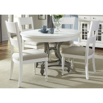 Preferred Lark Manor Bleau 5 Piece Extendable Dining Set In  (View 17 of 20)