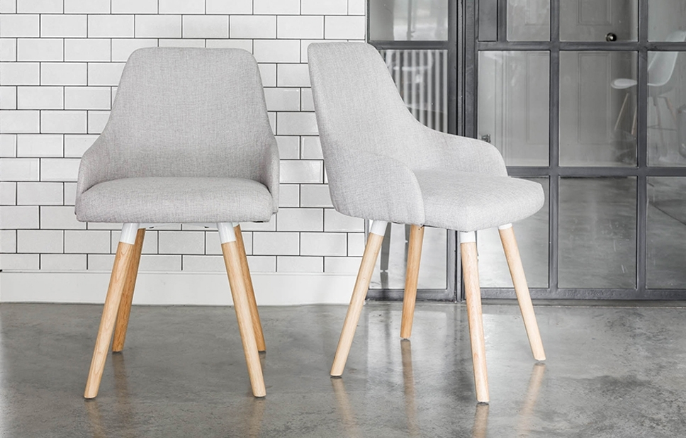 Preferred Oak Dining Chairs With Grey Fabric – Home Furniture – Out & Out Original With Grey Dining Chairs (View 19 of 20)