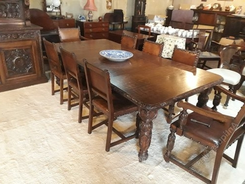 Preferred Oak Dining Suite With Superb Carved Oak Dining Room Suites&h Jewell – Antiques Atlas (View 15 of 20)