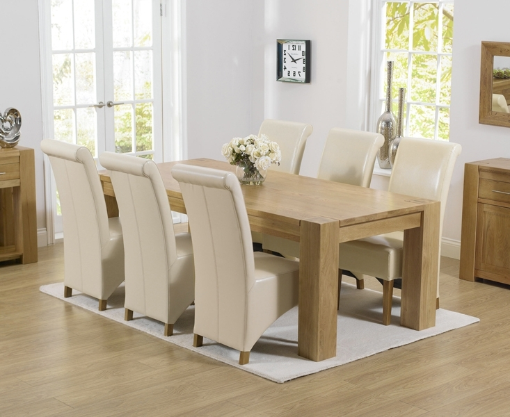 Preferred Oak Dining Table And Black Leather Chairs Chunky Oak Dining Table For Chunky Solid Oak Dining Tables And 6 Chairs (View 10 of 20)