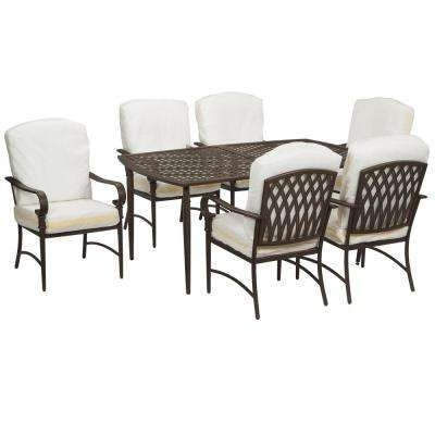 Preferred Outdoor Dining Table And Chairs Sets For 6 7 Person – Patio Dining Furniture – Patio Furniture – The Home Depot (View 4 of 20)