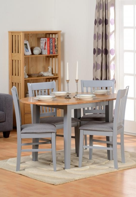 Preferred Oxford Extending Dining Table + 4 Chairs In Grey – Pp Homestores Pertaining To Extending Dining Tables And 4 Chairs (View 14 of 20)