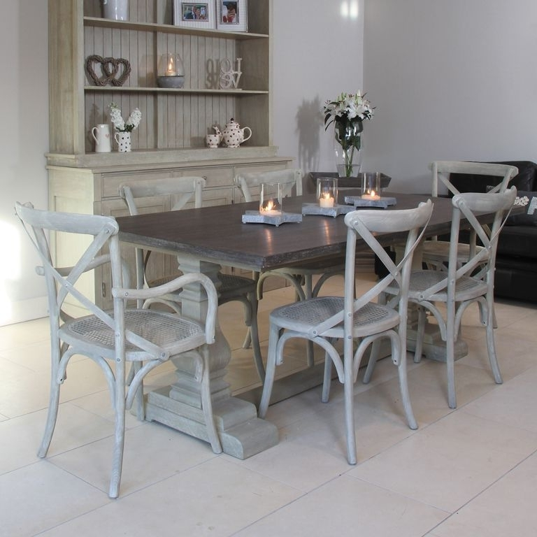 Preferred Refectory Style Table With Cross Back Chairs Available From Inside Cork Dining Tables (View 8 of 20)