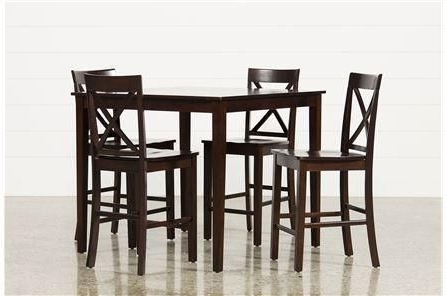 Preferred Rocco 8 Piece Extension Counter Sets For 5 Piece Counter Set, Pierce, Espresso, Kitchen & Dining Furniture (View 9 of 20)