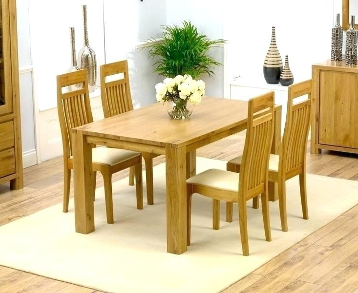 Preferred Round Oak Dining Tables And 4 Chairs Within Round Oak Dining Table And Chairs Royal Oak Dining Table 4 Chairs (View 9 of 20)