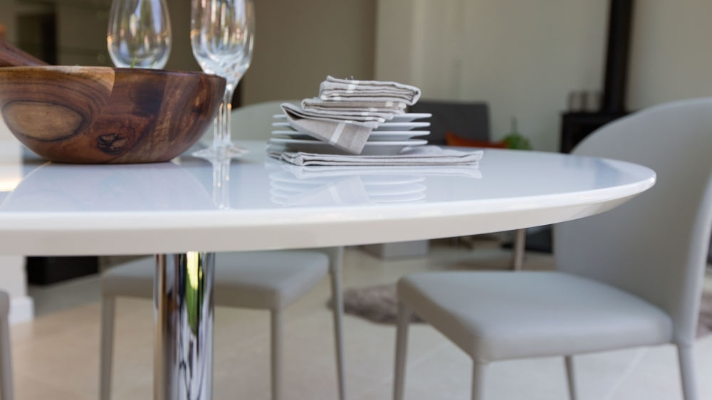 Preferred Round White Gloss Dining Table (View 17 of 20)