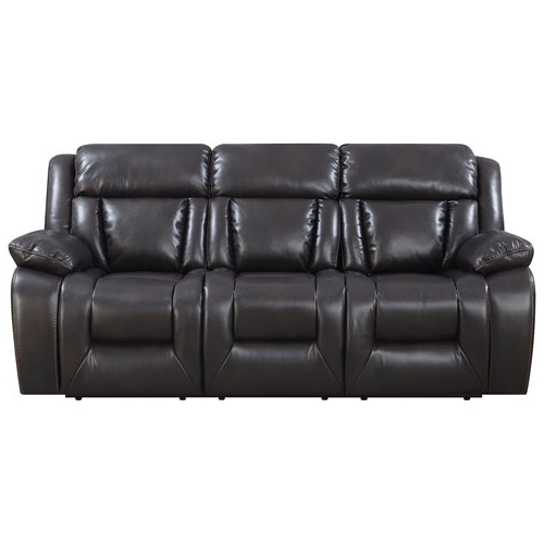 Preferred Sierra Foam Ii 3 Piece Sectionals Within Geneva Contemporary 3 Piece Recliner Sectional Sofa – Espresso (View 7 of 15)