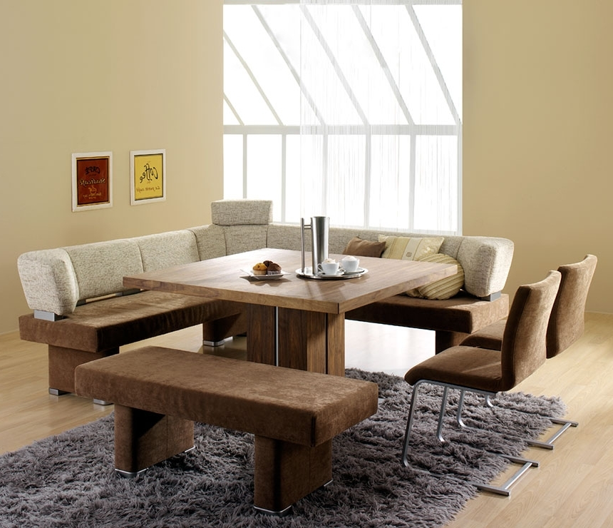 Preferred Small Dining Tables And Bench Sets Inside Contemporary Dining Room Design With Square Wooden Dining Room (View 15 of 20)