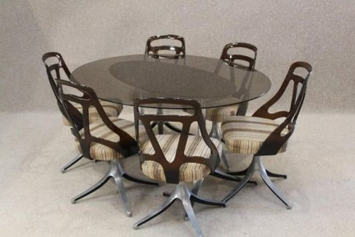 Preferred Smoked Glass Dining Tables And Chairs With Regard To Antiques Atlas – Retro Dining Table And Chairs (View 13 of 20)