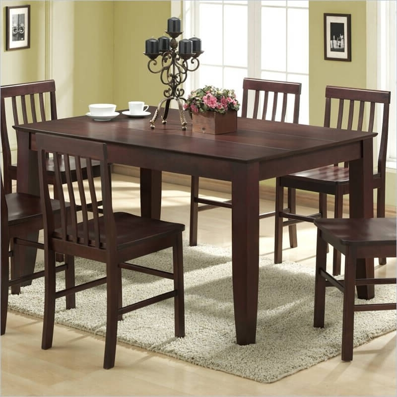 Preferred Solid Dark Wood Dining Tables In 20 Wood Rectangle Dining Tables That Seats 6 Under $ (View 13 of 20)