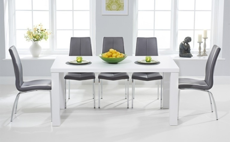 Preferred White Dining Suites Regarding High Gloss Dining Table Sets (View 16 of 20)