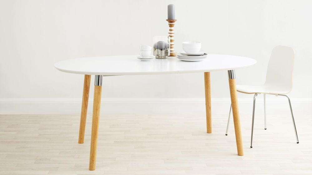 Preferred White Oval Extending Dining Tables Within Luka Matt White Extending Dining Table (View 12 of 20)