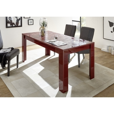 Prisma Decorative Red Gloss Dining Table – Dining Tables (3462 Throughout Popular Red Gloss Dining Tables (View 9 of 20)