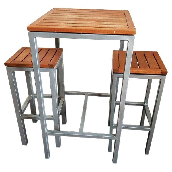 Pub Bistro Set Metal Bistro Table And Chairs Outdoor Bistro Set In Famous Palazzo 3 Piece Dining Table Sets (View 18 of 20)