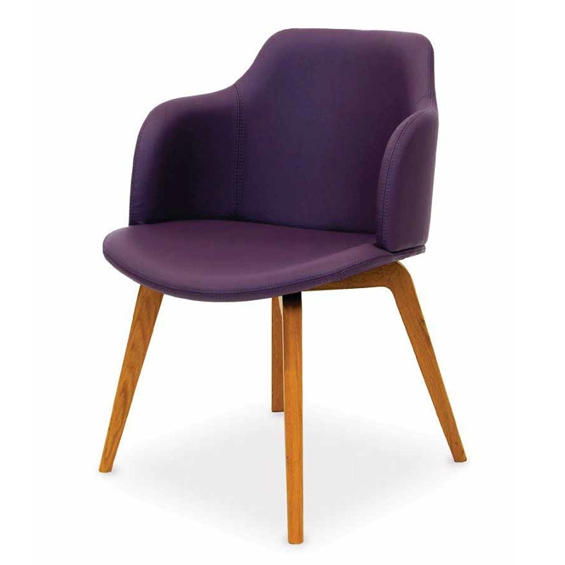 Purple Faux Leather Dining Chairs In Most Popular Orba Faux Leather Dining Chair (View 14 of 20)