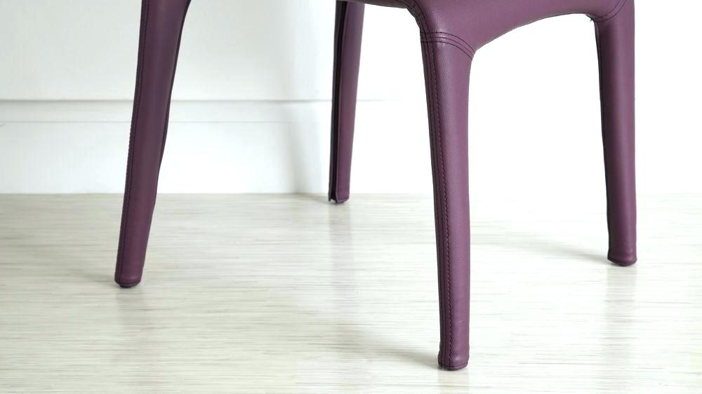 Purple Faux Leather Dining Chairs Regarding Famous Decoration: Modern Purple Dining Chairs Chair Faux Leather Room (View 20 of 20)
