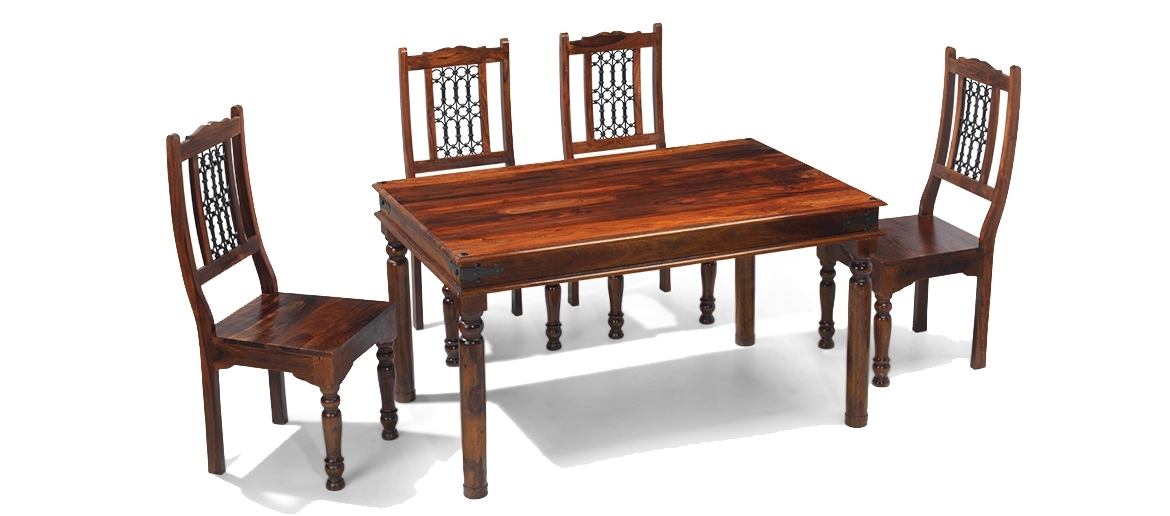 Quercus Living In Most Popular Sheesham Dining Tables And 4 Chairs (Gallery 3 of 20)