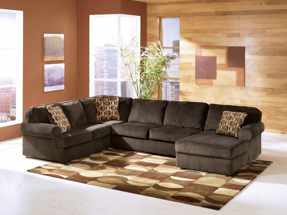 Raf Sectional Meyer 3 Piece W Chaise Living Spaces 87980 2 Jpg 1911 With 2017 Meyer 3 Piece Sectionals With Raf Chaise (View 12 of 15)