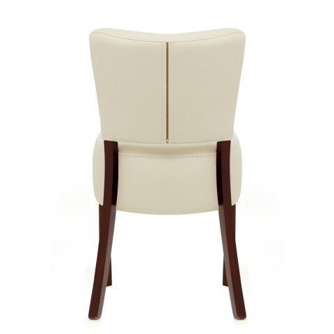 Ramsay Walnut Dining Chair Cream Leather – Atlantic Shopping Inside Well Liked Cream Leather Dining Chairs (View 14 of 20)